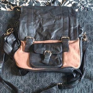 Black and Tan Backpack Shoulder Bag